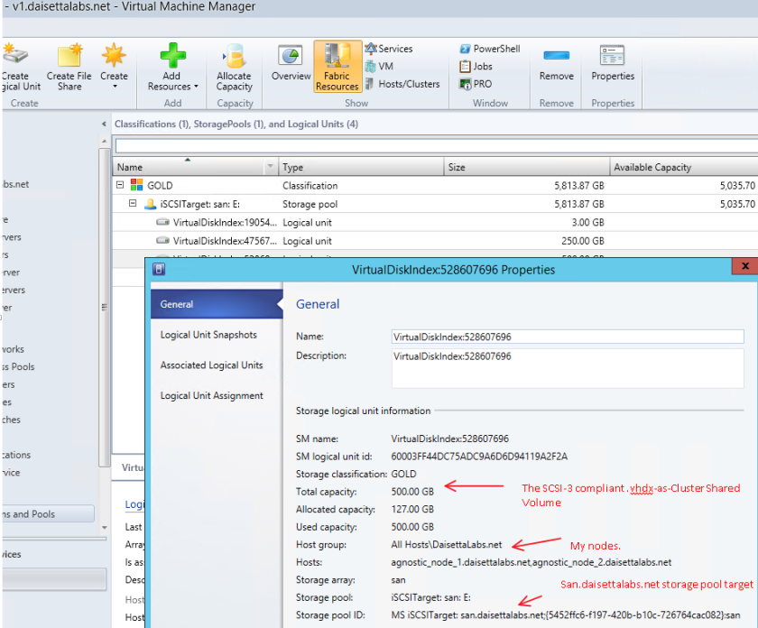 Single Pane o' glass in VMM with SMI-S for the Hyper-V set